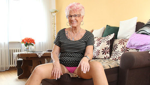 old Gerdi from Germany is 1 horny housewife