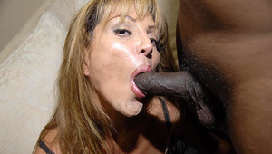 Yhis wild mama likes those 2 black dicks