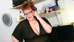 Horny chubby mama playing dirty games