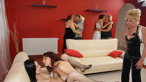 A special all lesbian old and young sexparty