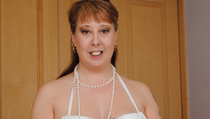 Horny British housewife pleasing herself