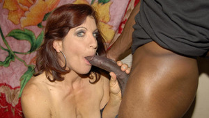 This horny cougar skank likes her penises to be ebony