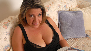 Chubby Angie enjoys to play when shes alone
