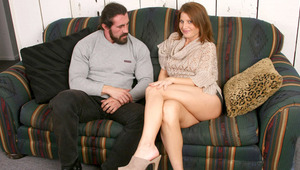 sweet brunette milf Rae Rodgers plays with her sextoys till she gets screwed by man