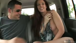 Sabrina and Tony are a couple of crazy swingers. They are on their way to another sleazy swinger's hotel. Tony isn't holding back, he's ready to strip and get Sabrina wet and horny for the road. Swingers are the best gift you can ask for! Cum see the kink