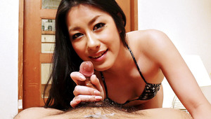 wild Ishiguro Kyoka walks all over her stud with pedicured feet