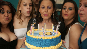 its an mature and teenie lesbian birthday party