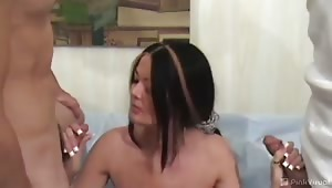 We Knew this sexy little MILF was a slut when we saw her hiding her wedding ring, after that we knew we were going to have to take her back to the pad and fuck the hell out of her tight MILF pussy. Before we sent her on her way we made sure to give her an
