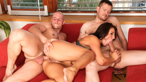 MILF boned in the booty by her fiance and real state agent