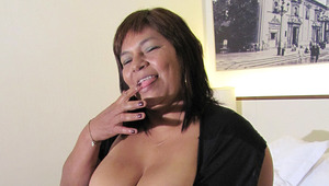 old slut Olga enjoys to get wet and nasty